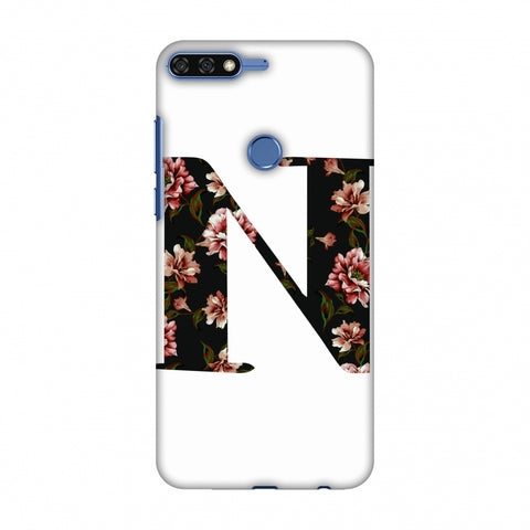 Floral Fill - N Slim Hard Shell Case For Huawei Honor 7C