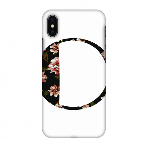 Floral Fill - O Slim Hard Shell Case For Apple iPhone X