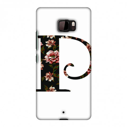 Floral Fill - P Slim Hard Shell Case For HTC U Ultra