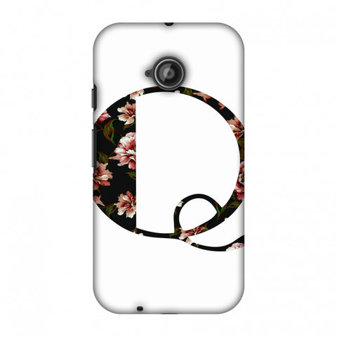 Floral Fill - Q Slim Hard Shell Case For Motorola Moto E 2nd Gen