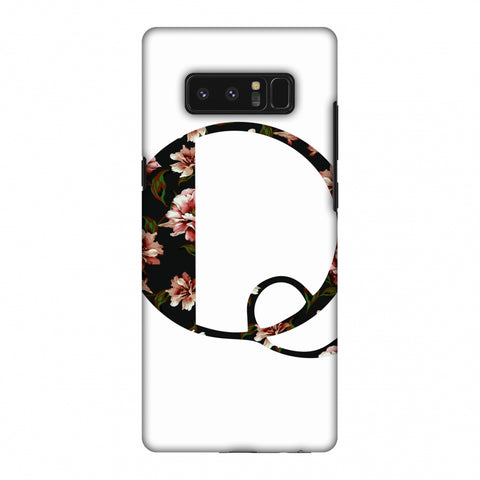 Floral Fill - Q Slim Hard Shell Case For Samsung Galaxy Note 8