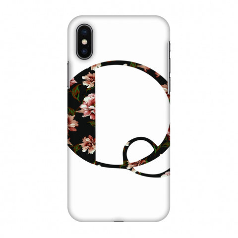 Floral Fill - Q Slim Hard Shell Case For Apple iPhone X