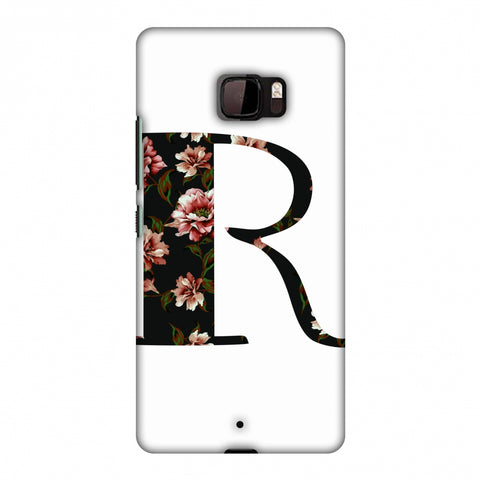 Floral Fill - R Slim Hard Shell Case For HTC U Ultra