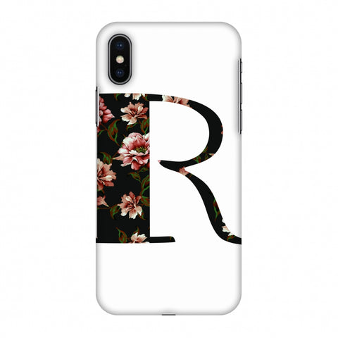 Floral Fill - R Slim Hard Shell Case For Apple iPhone X
