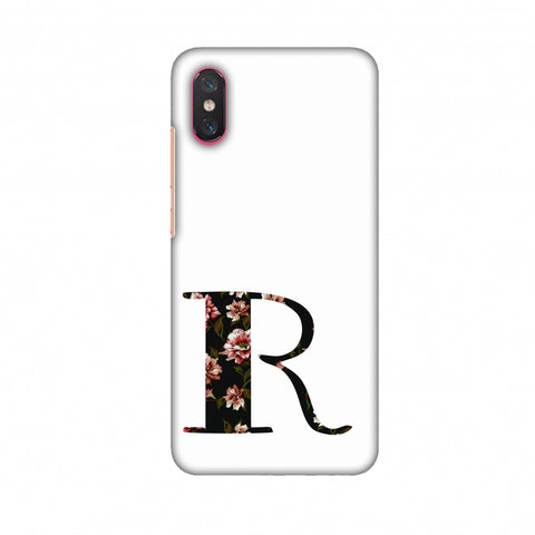 Floral Fill - R Slim Hard Shell Case For Xiaomi Mi 8 Pro
