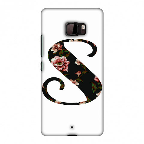 Floral Fill - S Slim Hard Shell Case For HTC U Ultra