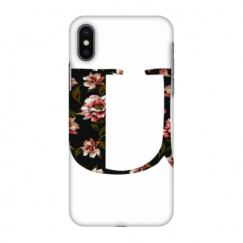 Floral Fill - U Slim Hard Shell Case For Apple iPhone X