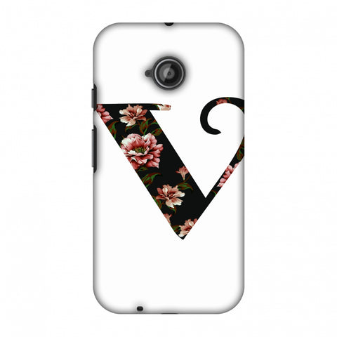 Floral Fill - V Slim Hard Shell Case For Motorola Moto E 2nd Gen