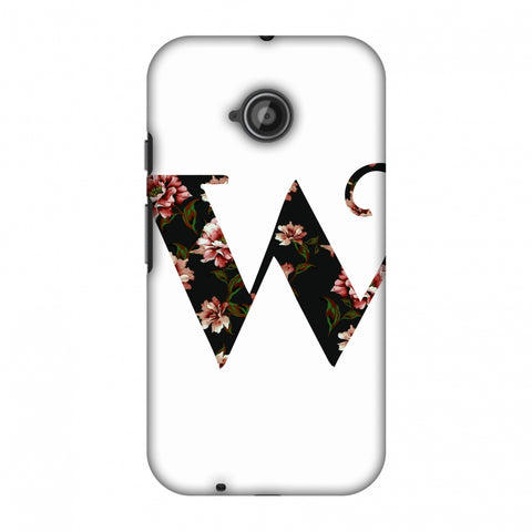 Floral Fill - W Slim Hard Shell Case For Motorola Moto E 2nd Gen
