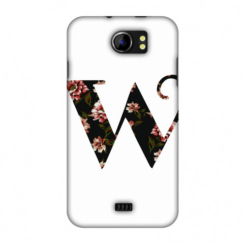 Floral Fill - W Slim Hard Shell Case For Micromax Canvas 2 A110