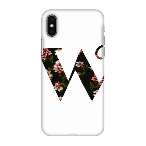 Floral Fill - W Slim Hard Shell Case For Apple iPhone X