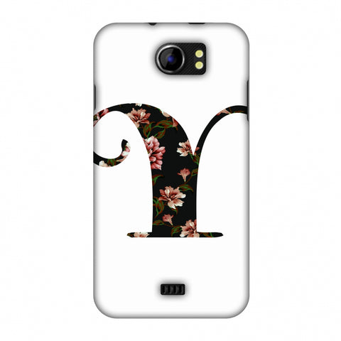 Floral Fill - Y Slim Hard Shell Case For Micromax Canvas 2 A110