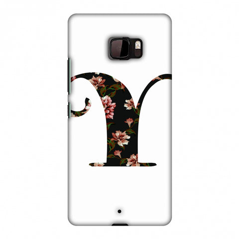 Floral Fill - Y Slim Hard Shell Case For HTC U Ultra