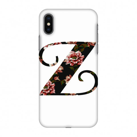 Floral Fill - Z Slim Hard Shell Case For Apple iPhone X