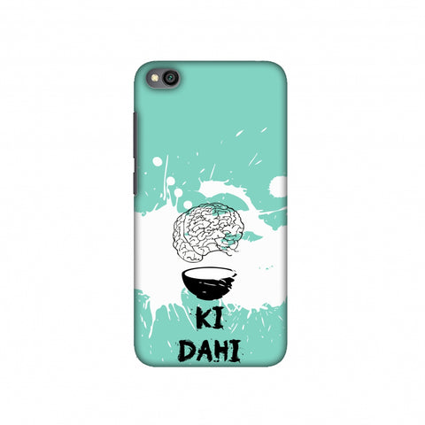 Dimag ki Dahi - Aquamarine Slim Hard Shell Case For Redmi Go