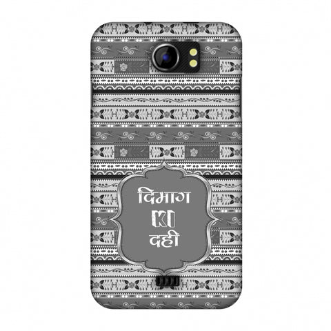 Dimag Ki Dahi - Geometric - Monochrome Slim Hard Shell Case For Micromax Canvas 2 A110