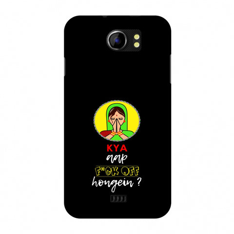 Kya Aap Fuck Off Hongein - Black Slim Hard Shell Case For Micromax Canvas 2 A110