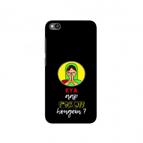 Kya Aap Fuck Off Hongein- Black Slim Hard Shell Case For Redmi Go