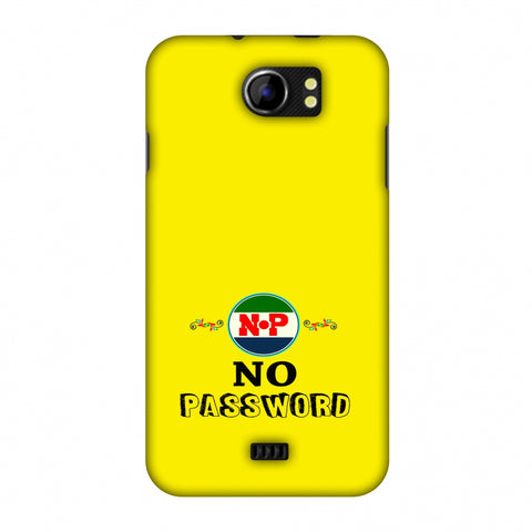No Password - Bright Yellow Slim Hard Shell Case For Micromax Canvas 2 A110