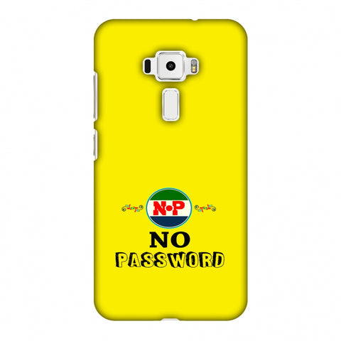 No Password - Bright Yellow Slim Hard Shell Case For Asus Zenfone 3 ZE520KL
