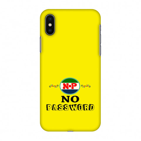 No Password - Bright Yellow Slim Hard Shell Case For Apple iPhone X