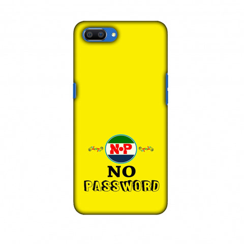 No Password - Bright Yellow Slim Hard Shell Case For Oppo Realme C1