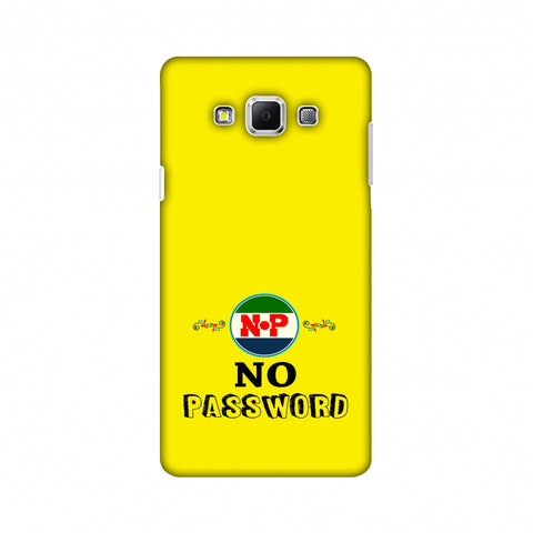 No Password - Bright Yellow Slim Hard Shell Case For Samsung Galaxy A7