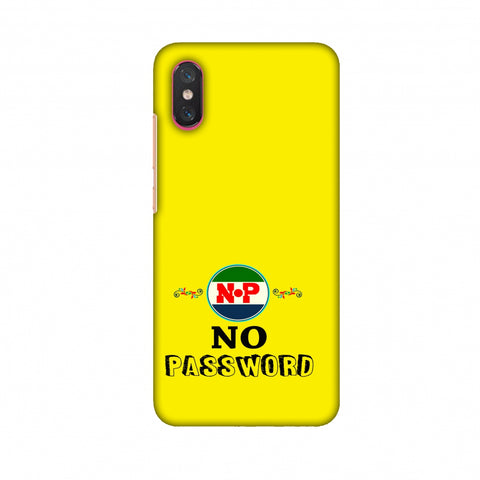 No Password - Bright Yellow Slim Hard Shell Case For Xiaomi Mi 8 Pro