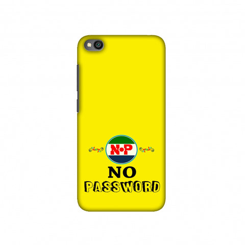 No Password- Bright yellow Slim Hard Shell Case For Redmi Go