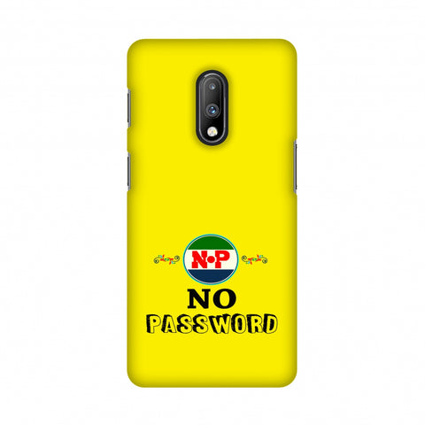 No Password- Bright yellow Slim Hard Shell Case For OnePlus 7