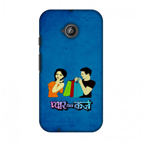 Pyaar Ka Karz - Blue Slim Hard Shell Case For Motorola Moto E 2nd Gen