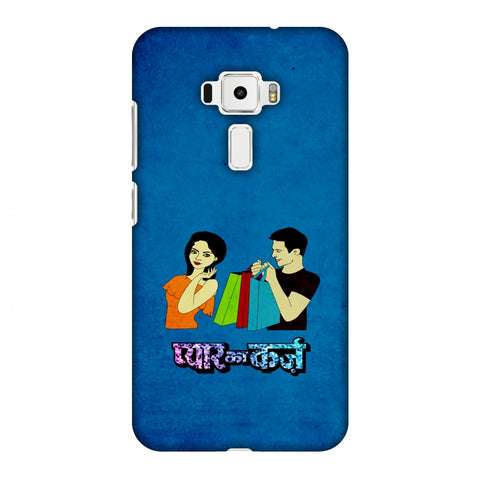 Pyaar Ka Karz - Blue Slim Hard Shell Case For Asus Zenfone 3 ZE520KL