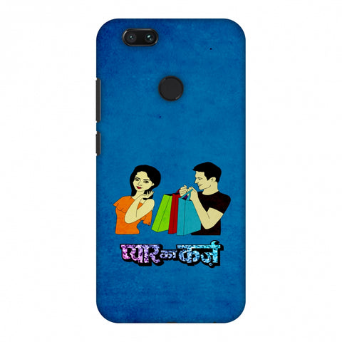 Pyaar Ka Karz - Blue Slim Hard Shell Case For Xiaomi MI A1-5X