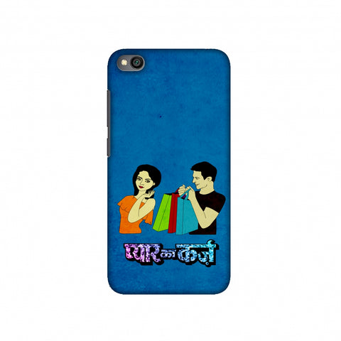 Pyaar ka Karz- Blue Slim Hard Shell Case For Redmi Go