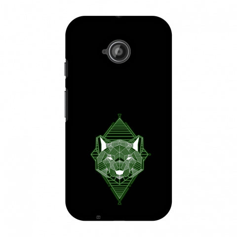 Geo Lion - Hunter Green Slim Hard Shell Case For Motorola Moto E 2nd Gen