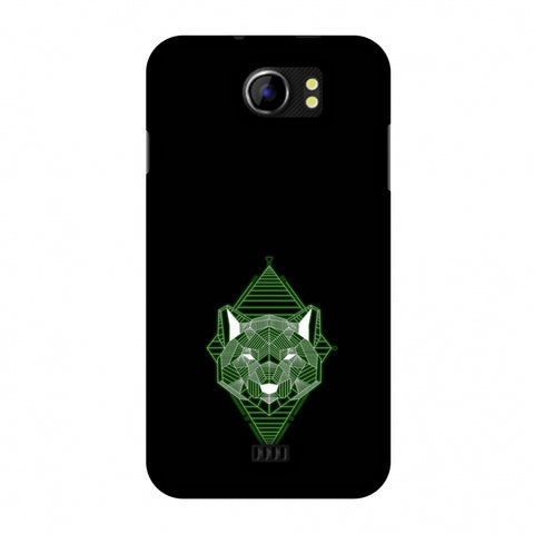 Geo Lion - Hunter Green Slim Hard Shell Case For Micromax Canvas 2 A110