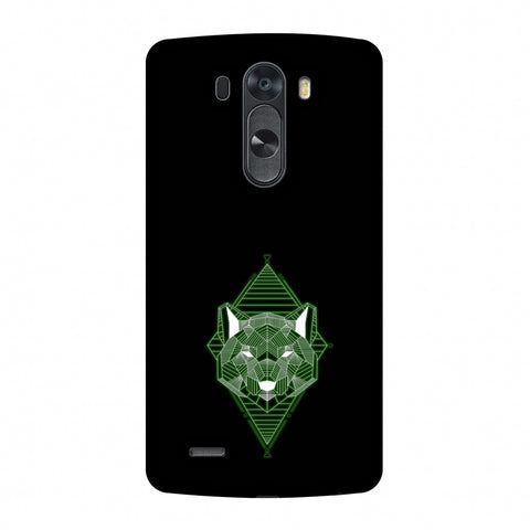 Geo Lion - Hunter Green Slim Hard Shell Case For LG G4
