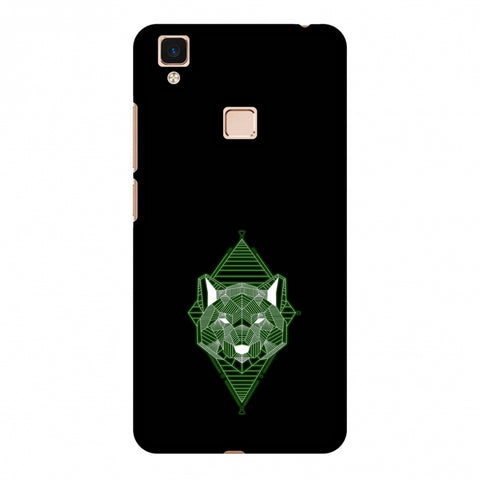 Geo Lion - Hunter Green Slim Hard Shell Case For Vivo V3 Max