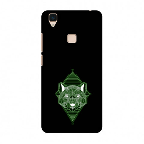 Geo Lion - Hunter Green Slim Hard Shell Case For Vivo V3
