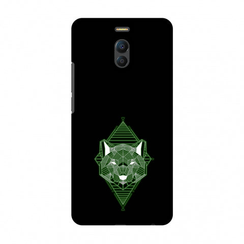 Geo Lion - Hunter Green Slim Hard Shell Case For Meizu Note 6