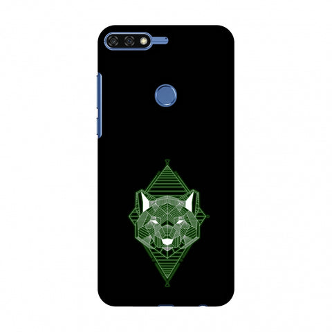 Geo Lion - Hunter Green Slim Hard Shell Case For Huawei Honor 7C
