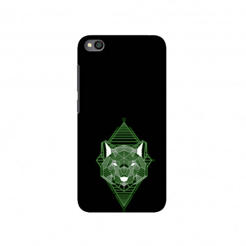 Geo Lion - Hunter Green Slim Hard Shell Case For Redmi Go