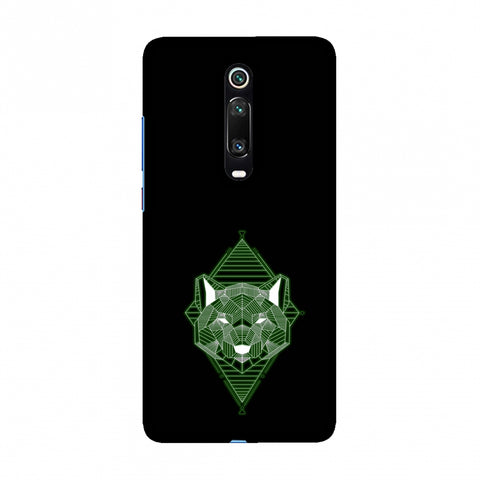 Geo Lion - Hunter Green Slim Hard Shell Case For Redmi K20/K20 Pro