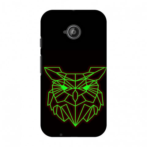 Owl - Neon Green Slim Hard Shell Case For Motorola Moto E 2nd Gen