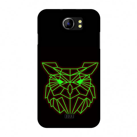 Owl - Neon Green Slim Hard Shell Case For Micromax Canvas 2 A110