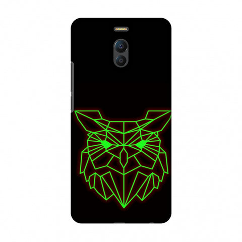 Owl - Neon Green Slim Hard Shell Case For Meizu Note 6