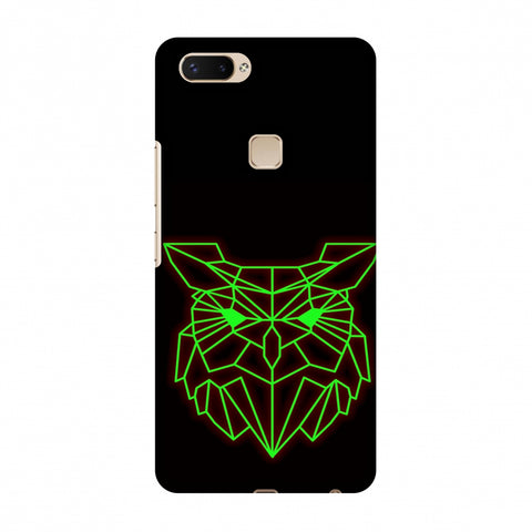 Owl - Neon Green Slim Hard Shell Case For Vivo X20 Plus
