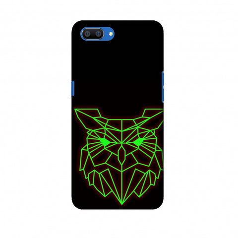 Owl - Neon Green Slim Hard Shell Case For Oppo Realme C1