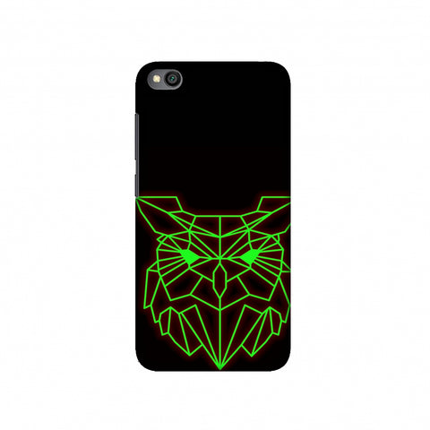 Owl - Neon Green Slim Hard Shell Case For Redmi Go