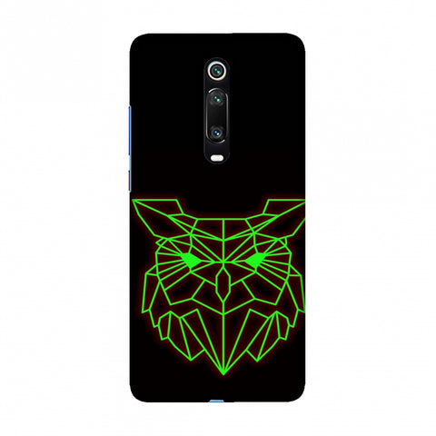 Owl - Neon Green Slim Hard Shell Case For Redmi K20/K20 Pro